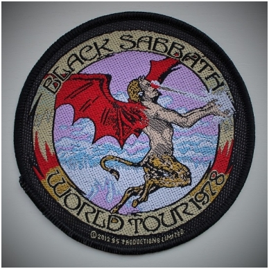 Black Sabbath - World Tour 1978 Patch