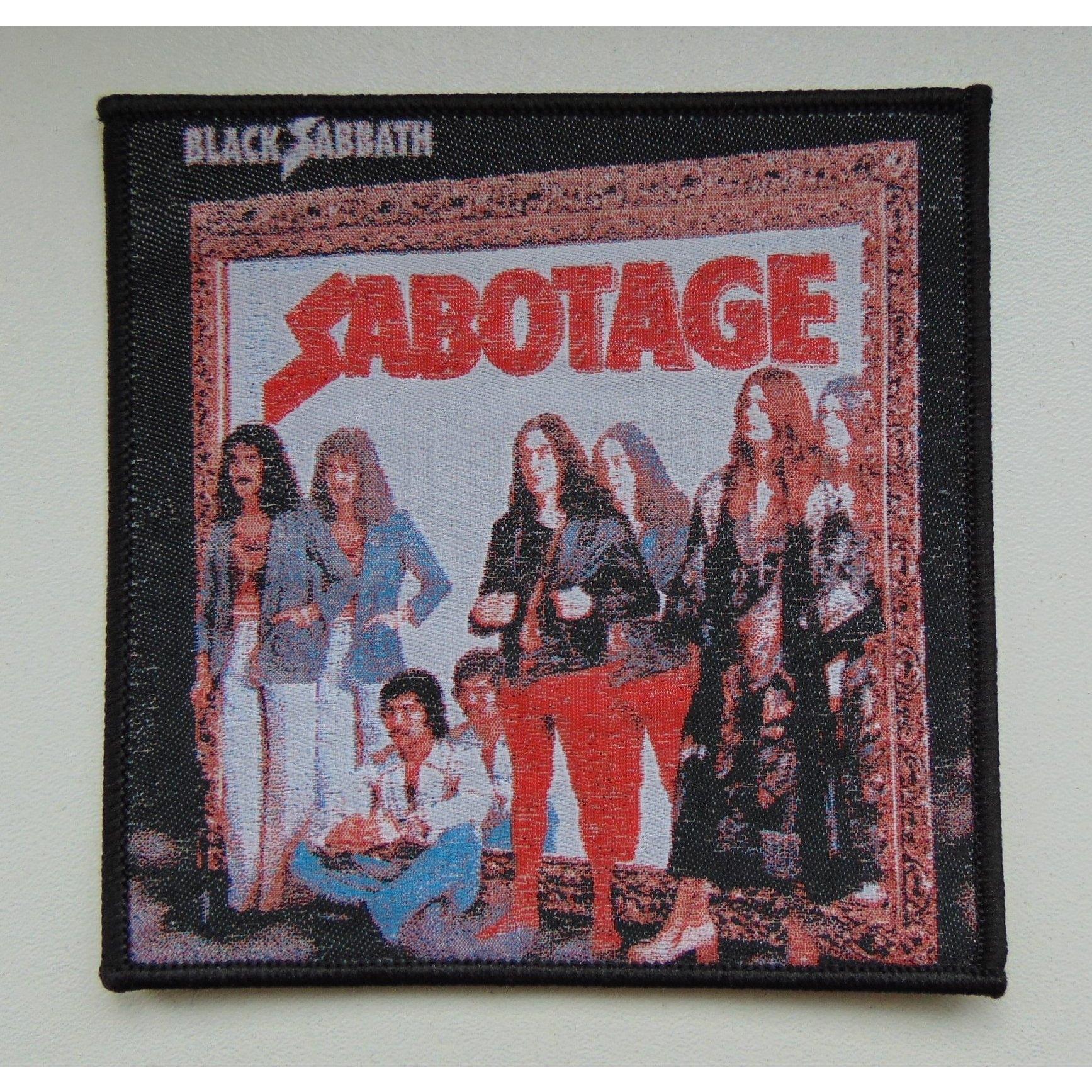 Black Sabbath Sabotage Patch Merchandise Ipr666 Shop