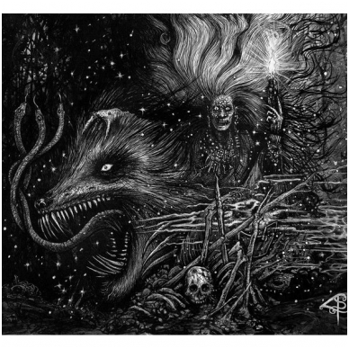 Grafvitnir ‎- Obeisance To A Witch Moon LP