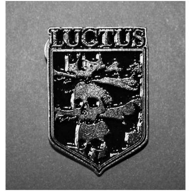 Luctus - Skulls Metal Badge